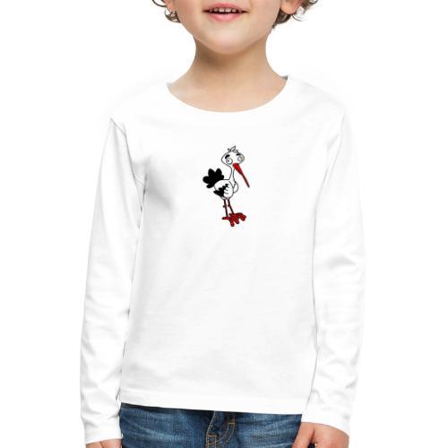 Storch von dodocomics - Kinder Premium Langarmshirt