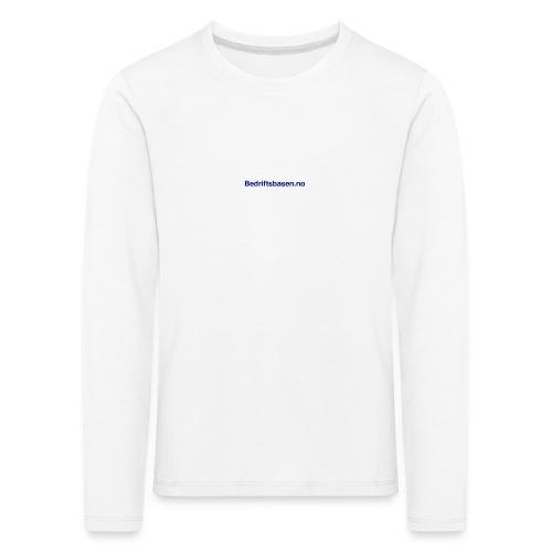Bedriftsbasen.no logo - Premium langermet T-skjorte for barn