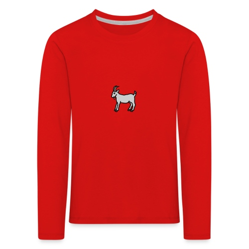 Ged T-shirt herre - Børne premium T-shirt med lange ærmer