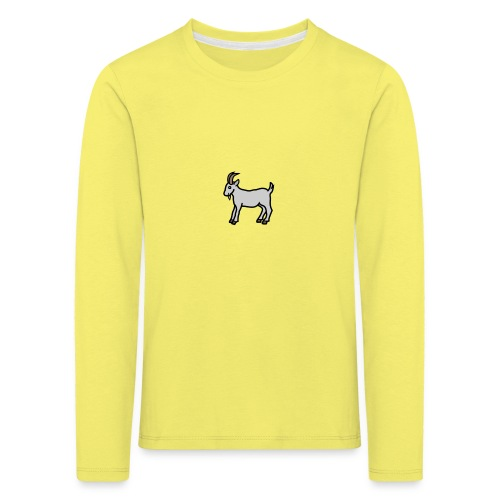 Ged T-shirt dame - Børne premium T-shirt med lange ærmer
