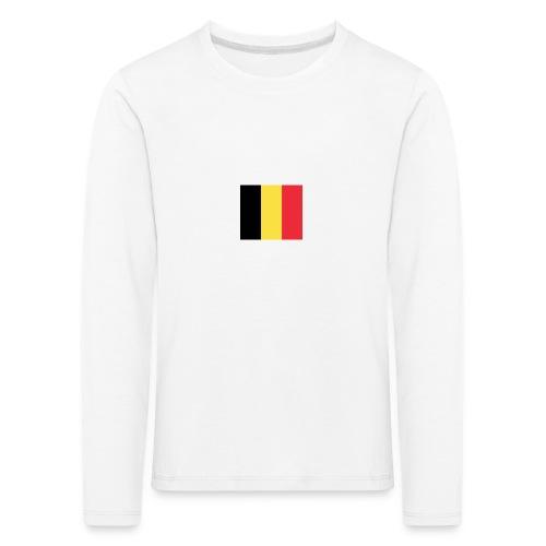 vlag be - Kinderen Premium shirt met lange mouwen