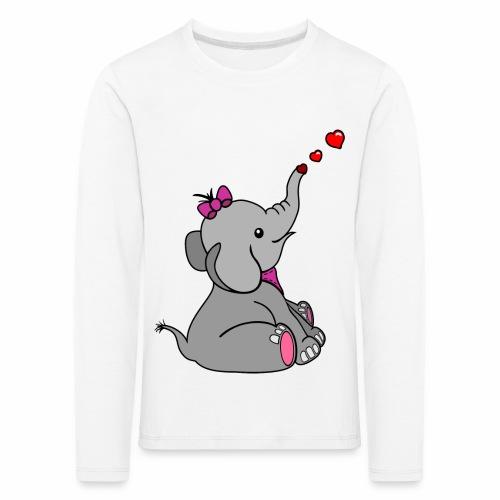 Elefant - Kinder Premium Langarmshirt