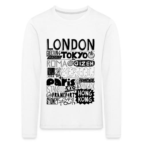 Villes du monde - T-shirt manches longues Premium Enfant