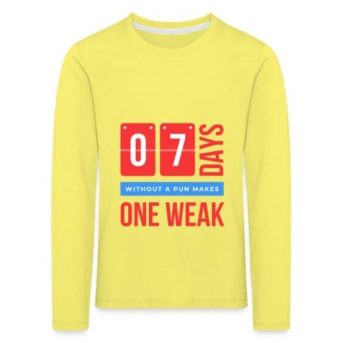 one week - Maglietta Premium a manica lunga per bambini