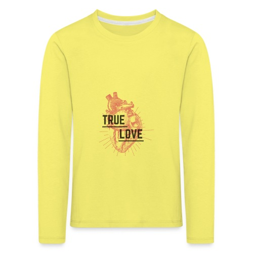 True Love - Maglietta Premium a manica lunga per bambini