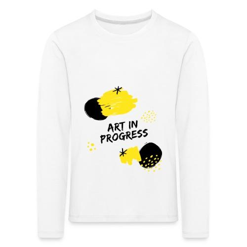 Art in Progress - Maglietta Premium a manica lunga per bambini