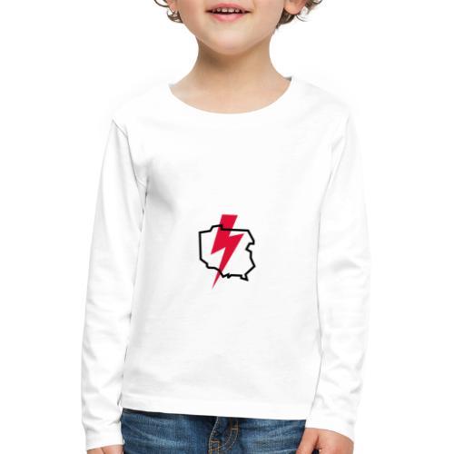 Poland thunder. Protest Ppolka - Koszulka dziecięca Premium z długim rękawem