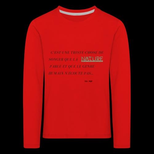 La nature et les hommes. - T-shirt manches longues Premium Enfant