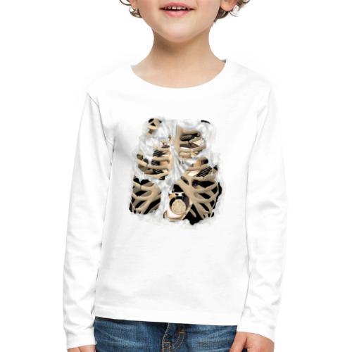 V-Twin skeleton blanco - Camiseta de manga larga premium niño