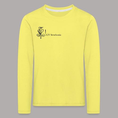 Zirkel mit Name, schwarz (vorne) - Kinder Premium Langarmshirt