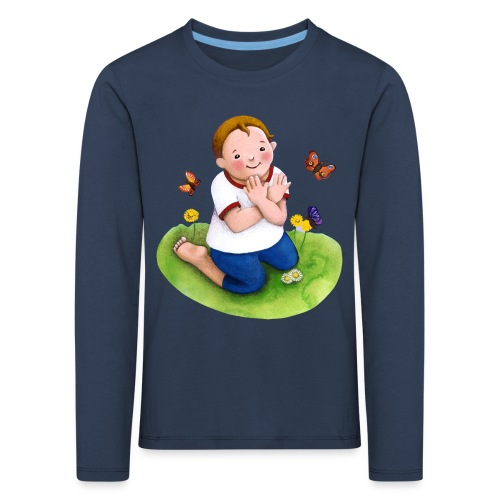 Gebärde Schmetterling - Kinder Premium Langarmshirt