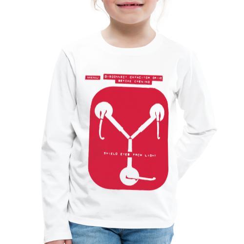 Back To The Future DeLorean Flux Capacitor - Kids' Premium Longsleeve Shirt