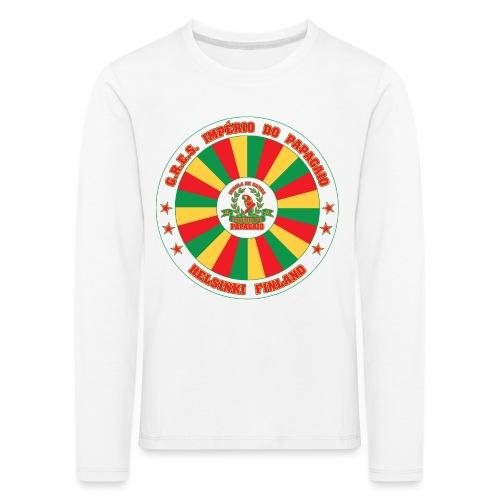 Papagaio drum logo - Lasten premium pitkähihainen t-paita
