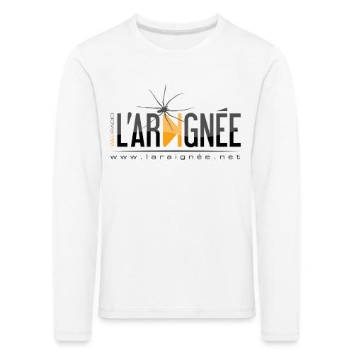 L'ARAIGNÉE, logo noir - T-shirt manches longues Premium Enfant