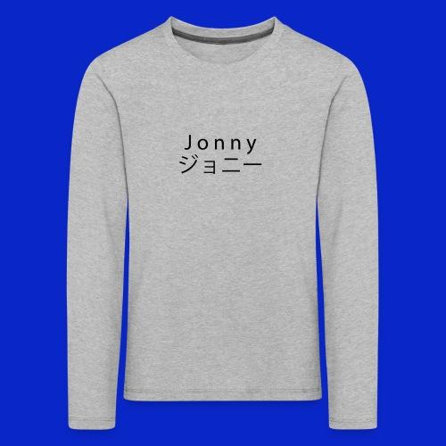 J o n n y (black) - Kids' Premium Longsleeve Shirt