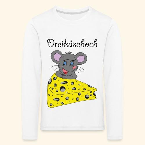 Dreikäsehoch - schwarze Schrift - Kinder Premium Langarmshirt