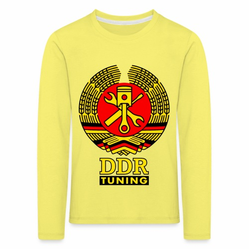 DDR Tuning Coat of Arms 3c - Kids' Premium Longsleeve Shirt