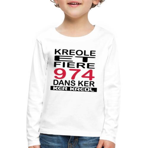 Kreole et Fiere - 974 ker kreol - T-shirt manches longues Premium Enfant