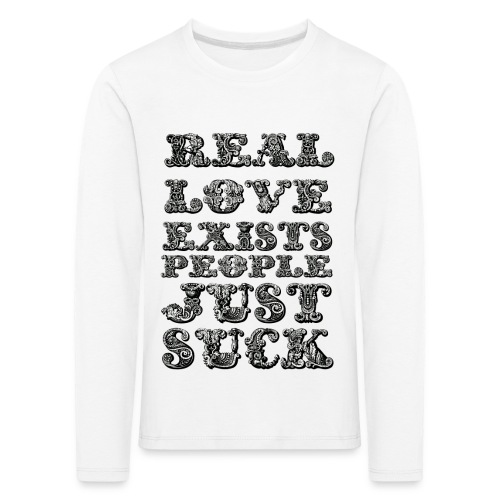 Real Love Exists REBEL INC. - Koszulka dziecięca Premium z długim rękawem