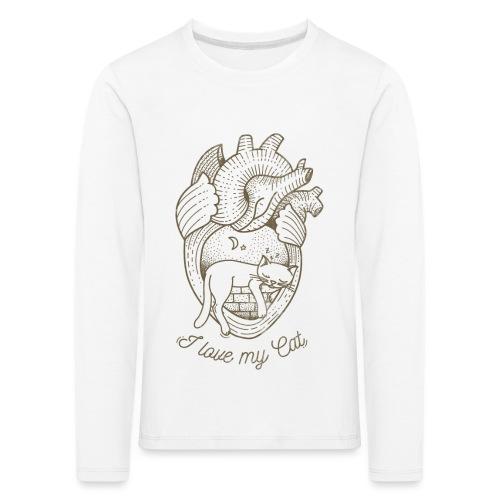 Cat_heart-png - Maglietta Premium a manica lunga per bambini