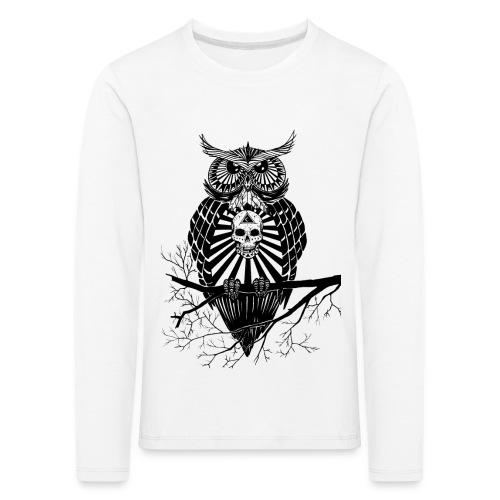 Hibou Psychédélique - T-shirt manches longues Premium Enfant