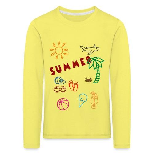 Summer - Lasten premium pitkähihainen t-paita