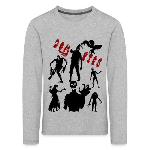 Zombies - Lasten premium pitkähihainen t-paita