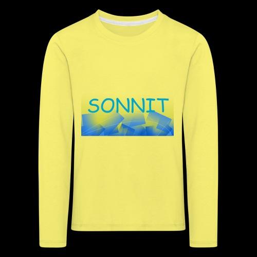 Sonnit Blue Square Splash - Kids' Premium Longsleeve Shirt