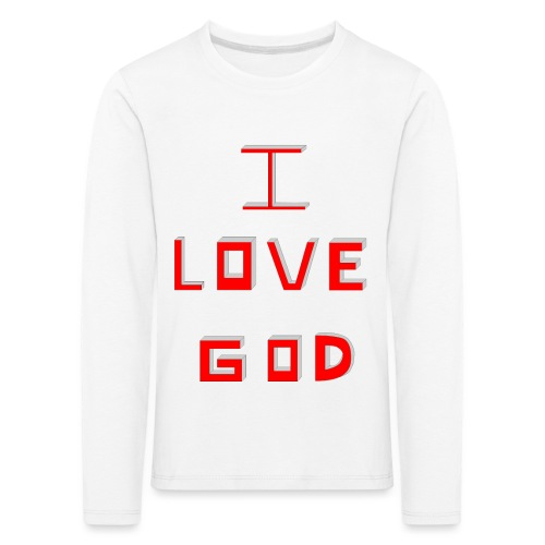 I LOVE GOD - Camiseta de manga larga premium niño