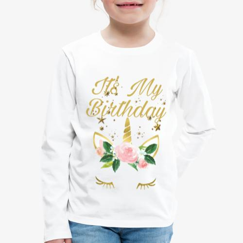 It's My Birthday - Maglietta Premium a manica lunga per bambini