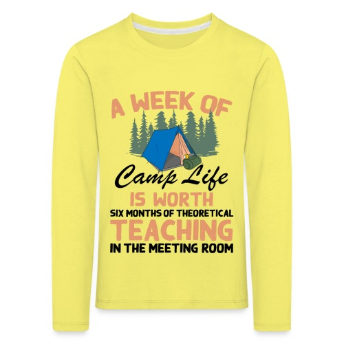 A Week Of Camp Life - Kids' Premium Longsleeve Shirt