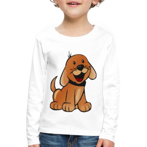 cartoon dog - Maglietta Premium a manica lunga per bambini