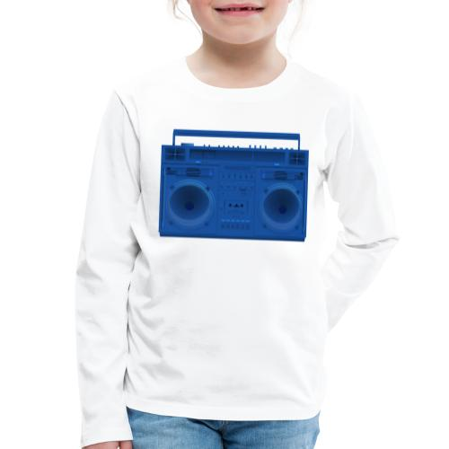 Bestes Stereo blau Design online - Kinder Premium Langarmshirt