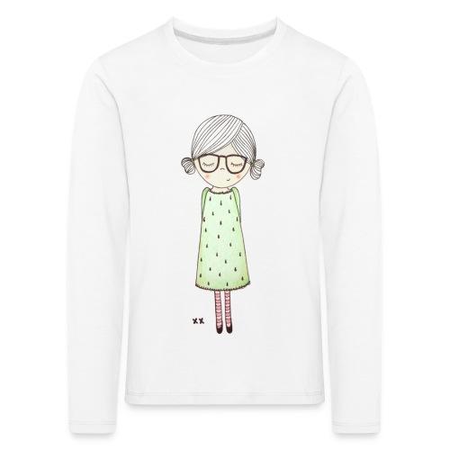 meisje met bril - Kinderen Premium shirt met lange mouwen