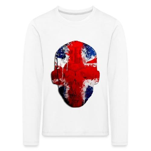 Borg recordings uk Union flag MetaSkull T Shirt - Kids' Premium Longsleeve Shirt