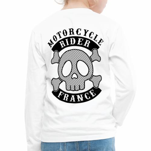 Motorcycle Rider France - T-shirt manches longues Premium Enfant