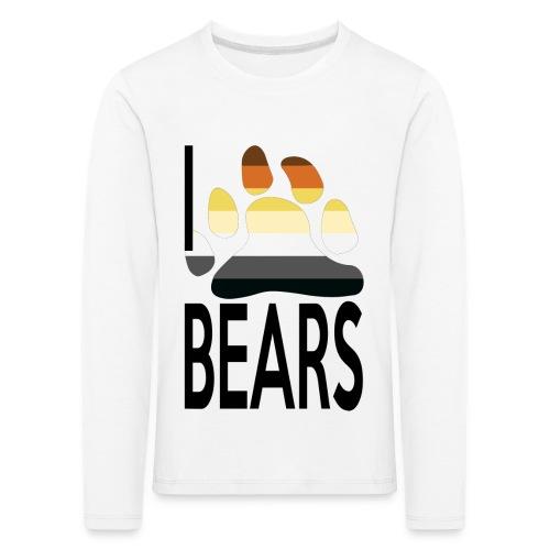 I love bears - T-shirt manches longues Premium Enfant