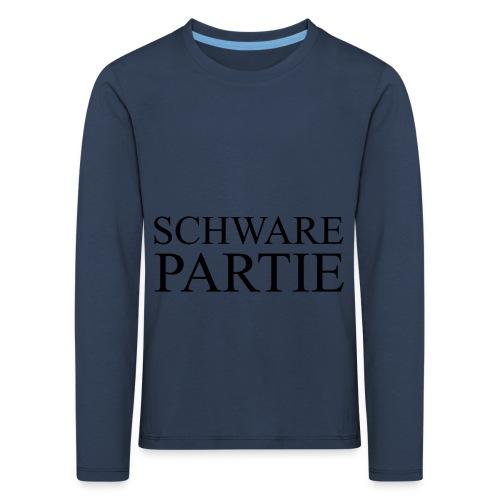 schwarePartie png - Kinder Premium Langarmshirt