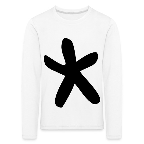 Wills Cwtch Hoodie, with a star on the front and - Kids' Premium Longsleeve Shirt