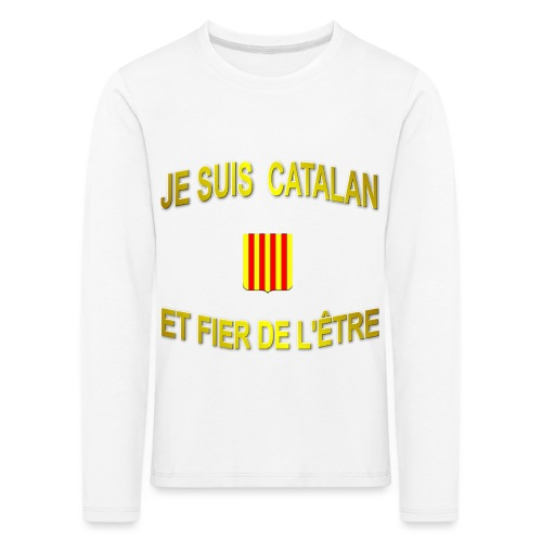 Tee-Shirt supporter du pays CATALAN - T-shirt manches longues Premium Enfant