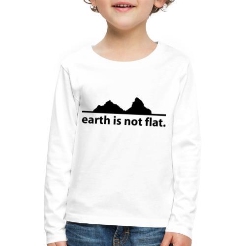 earth is not flat. - Kinder Premium Langarmshirt
