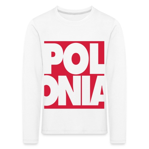 Polonia Schriftzug - Kinder Premium Langarmshirt