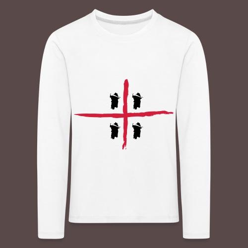 Sardegna Bendata, 4 Mori orizzontale - Maglietta Premium a manica lunga per bambini