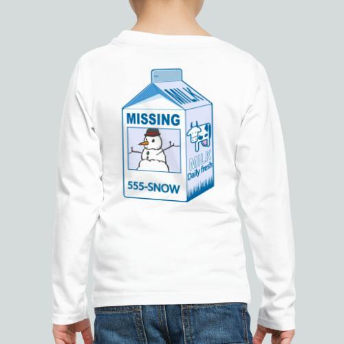 Missing : snowman - T-shirt manches longues Premium Enfant