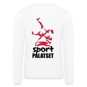 Motiv med svart och röd logga - Långärmad premium-T-shirt barn