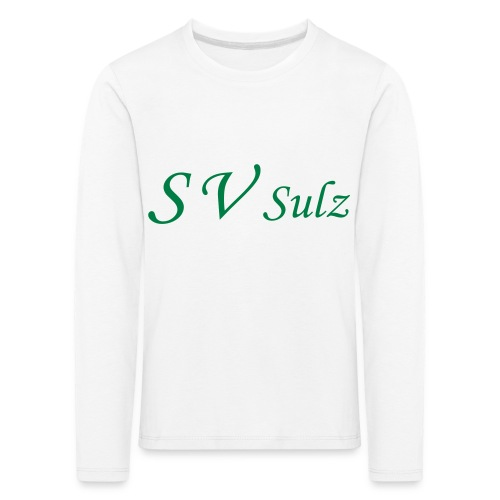 svs schrift 2 - Kinder Premium Langarmshirt