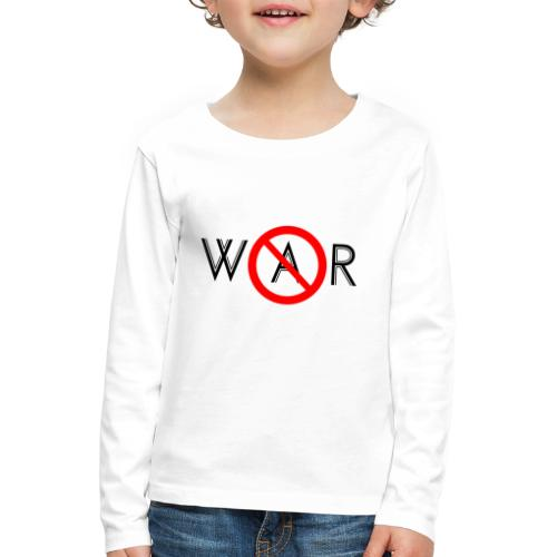 TIAN GREEN - No War - Kinder Premium Langarmshirt