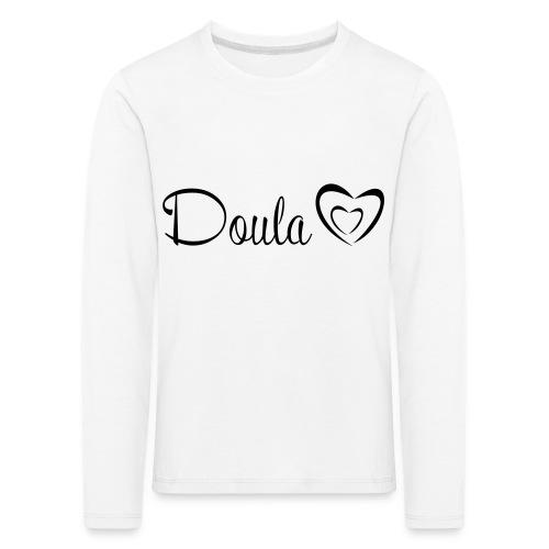 doula polkuna sydämet - Lasten premium pitkähihainen t-paita