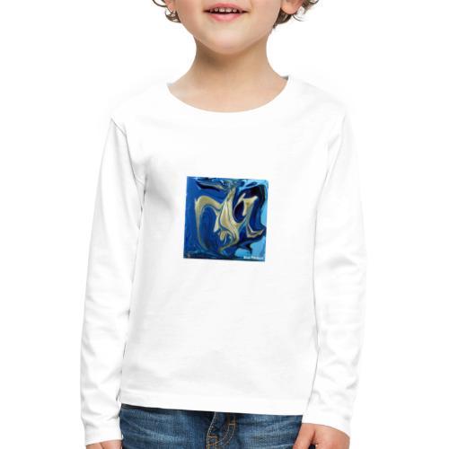 TIAN GREEN Welt Mosaik - AT042 Blue Passion - Kinder Premium Langarmshirt