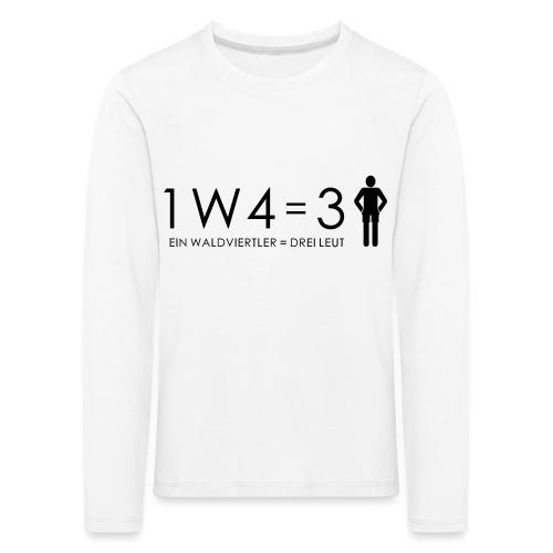 1W4 3L - Kinder Premium Langarmshirt